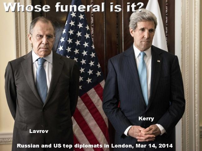 US-RUSSIA PEACE TALKS IN LONDON BREAK DOWN
