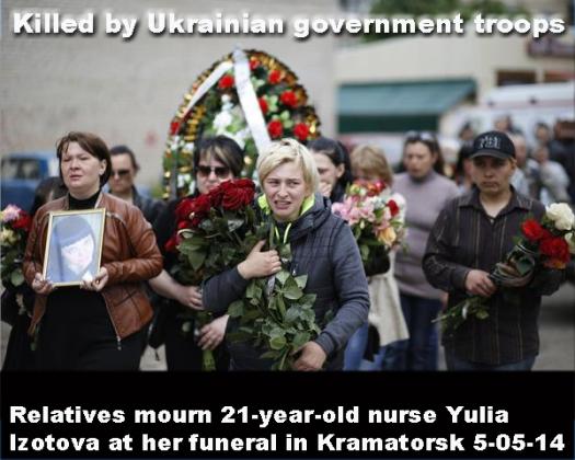 Ukraine Kramatorsk funeral