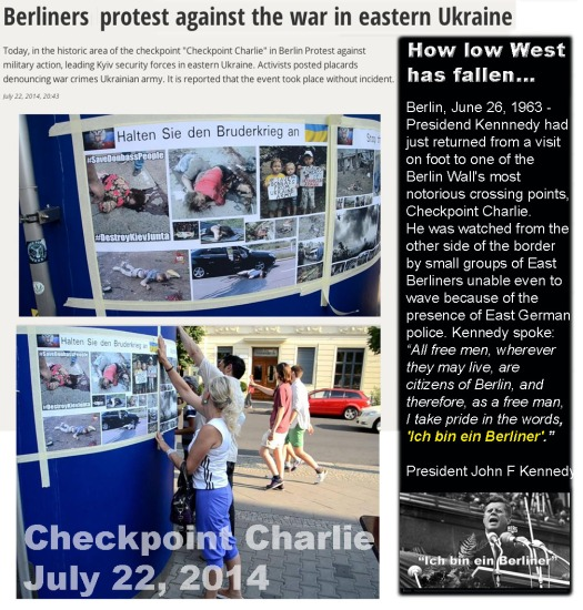 Berlin Checkpoint Charlie protest