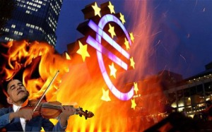 Obama fiddles Euro burns