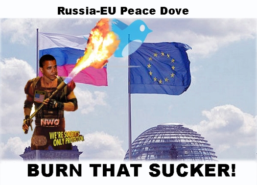 Russia-EU Peace Dove Burned