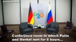 Merkel Putin conf room