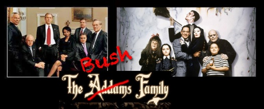 Bush Addams family