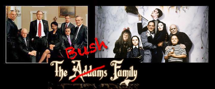 Bush Addams family