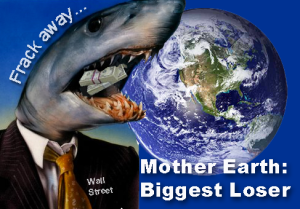 Earth_Globe Wall St shark frack