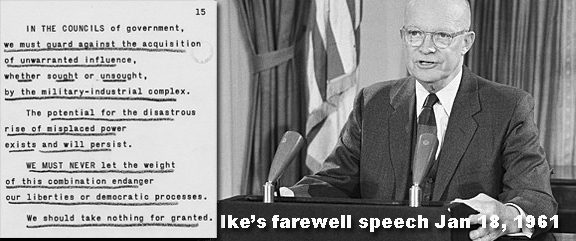 an analysis of dwight eisenhowers farewell address This evening i come to you with a message of leave-taking and farewell, and to share a few final thoughts with you, my countrymen like every other citizen, i wish the new president, and all who will labor with him, godspeed.