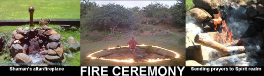 Fire ceremony Rainbow Shower