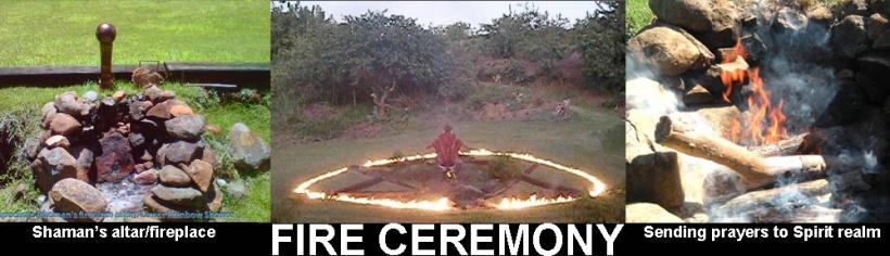 Fire ceremony Rainbow Shower