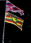Hawaiian flags