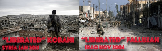 Liberated Kobani-Fallujah