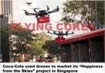 Coke drones in Singapore