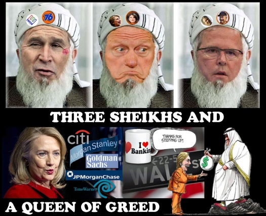 3 sheiks queen of greed