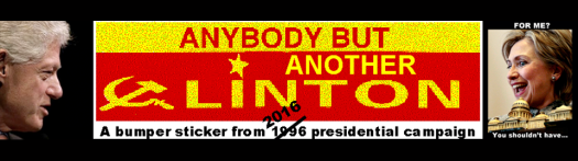 Anybody but another Klinton