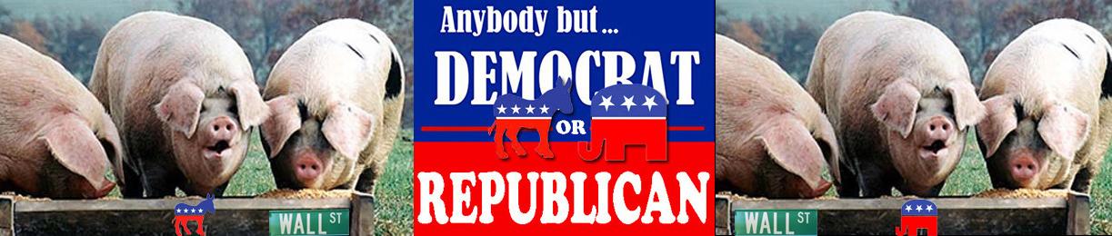 Anybody but Democrat Republican pig trough