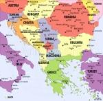 Balkans, political map