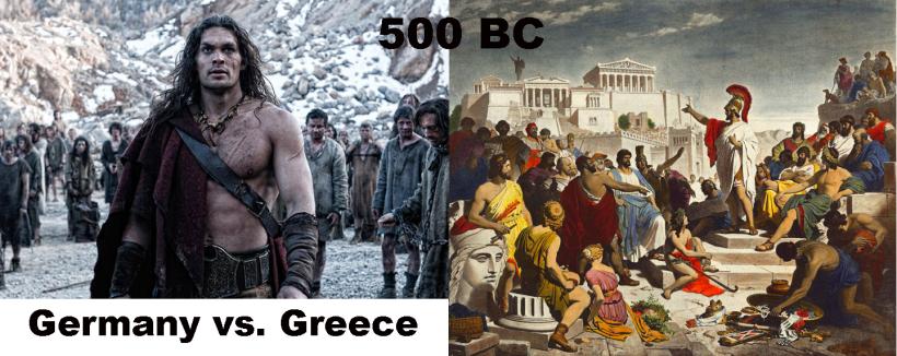 Germany vs Greece 500 BC