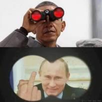 Obama Putin finger