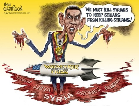 Image result for caricature obama syria