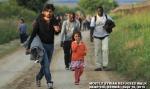 Syrian refugees in Sid Serbia