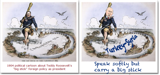 Teddy Roosevelt Putin Big Stick cartoon[