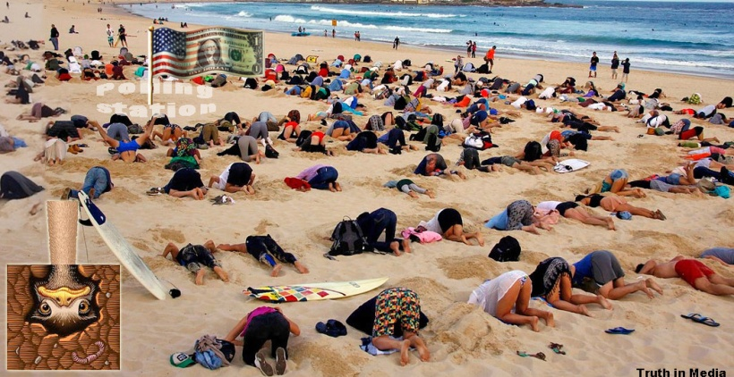 US voters heads in sand