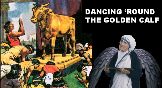 Worship of the Golden Calf. NB: Scan of small illustration.