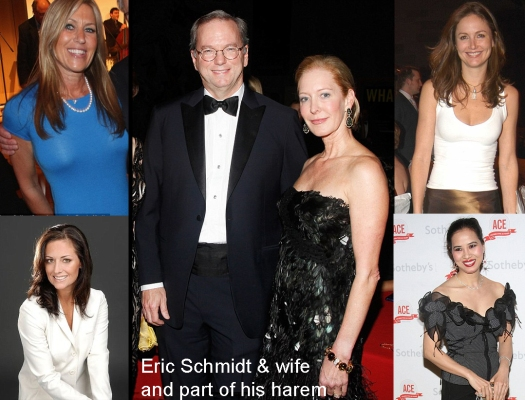 Eric Schmidt wife and harem
