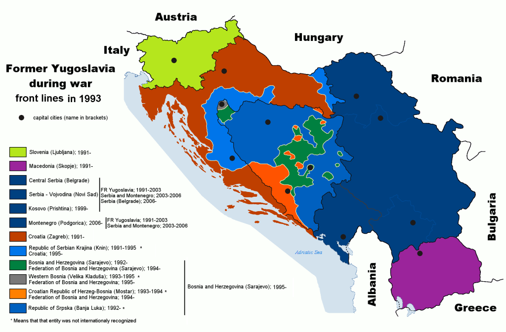 the role of serbia in the break up of yugoslavia