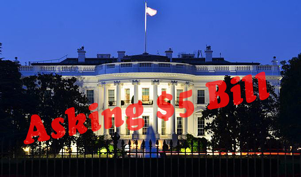 White house for sale asking 5 billion truth in media for Farcical root word