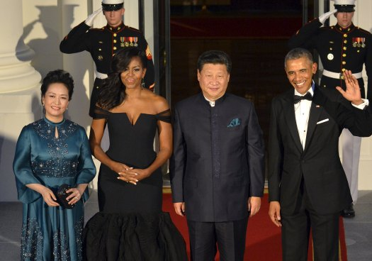 President Obama welcomes Chinese President Xi and Madame Peng for a State Dinner in Washington