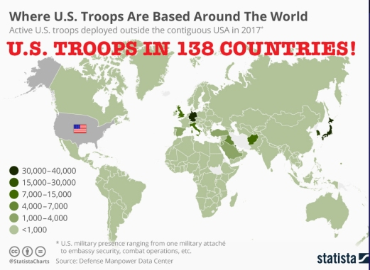 US TROOPS DEPLOYED IN COUNTRIES TRUTH IN MEDIA TRUTH - Map of us troops around the world