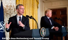 Donald Trumo and Jens Stoltenberg