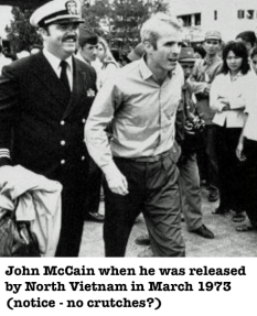 McCain no crutches