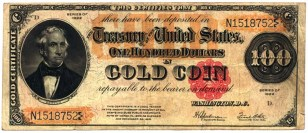 Gold certificates were used as paper currency in the United States from 1882 to 1933. These certificates were freely convertible into gold coins.
