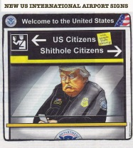 New US airport signs
